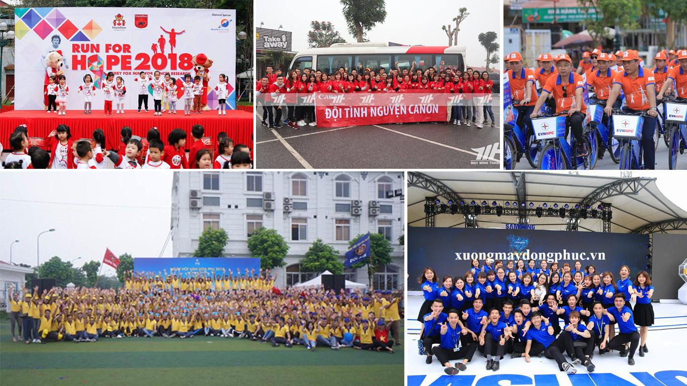 Sản phẩm áo đồng phục của Minh Thành đồng hành trong nhiều chương trình lớn